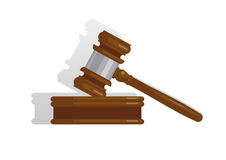 惊堂木可实现法官的照片 免版税库存照片