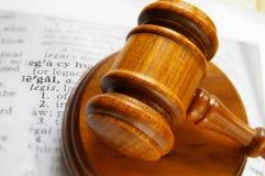 惊堂木法律合法的工作 免版税库存照片