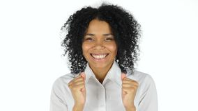 惊奇愉快的黑人妇女 股票录像