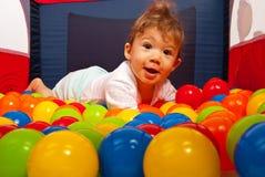 惊奇愉快的婴孩 免版税库存照片