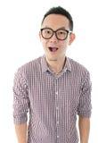 惊奇的亚洲男性 免版税库存图片