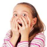 惊奇的儿童纵向 免版税库存图片