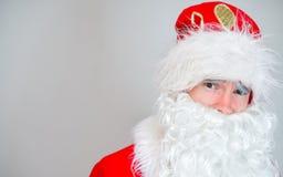 惊奇的圣诞老人画象 免版税图库摄影