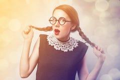 惊奇的女孩红头发人 免版税库存图片