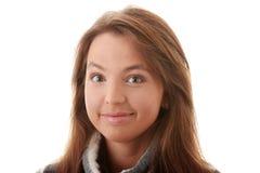 惊奇的妇女年轻人 免版税库存照片