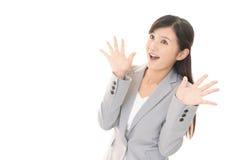 惊奇的妇女 免版税库存图片