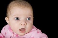 惊奇的婴孩新出生 免版税库存图片