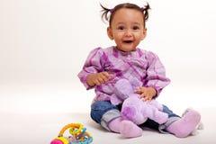 惊奇的婴孩美丽二种人种 免版税库存照片