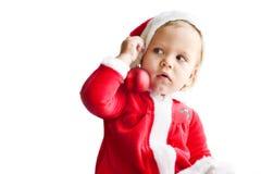 惊奇的小圣诞老人辅助工 库存图片