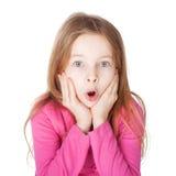 惊奇的小女孩 免版税库存照片