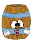 惊奇的桶动画片 免版税库存照片