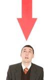 惊奇的箭头红色 库存照片