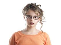 惊奇的美丽的女孩纵向 免版税库存图片