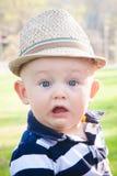 惊奇的预科生的男婴 图库摄影
