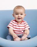 惊奇的婴孩微笑 免版税库存图片