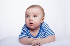 惊奇的婴孩 库存照片