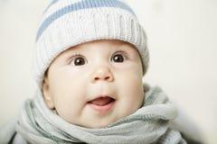 惊奇的婴孩 免版税库存照片