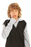 惊奇青少年的男孩 免版税库存照片