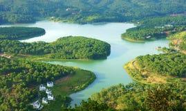 惊奇,美好的全景,大叻旅行,越南 库存照片