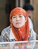 惠山少数女性供营商,三亚,中国 库存照片