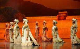 惠山战士惠山在贺兰的芭蕾月亮 库存图片