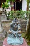 惠比寿渔夫或客商的雕象神是Fo的七个神 库存照片