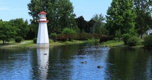 惠灵顿公园在Simcoe,加拿大 免版税图库摄影