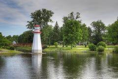 惠灵顿公园在Simcoe,安大略 免版税库存照片