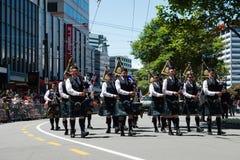 惠灵顿圣诞老人游行2015年,新西兰 免版税图库摄影