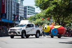 惠灵顿圣诞老人游行2015年,新西兰 图库摄影