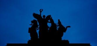 惠灵顿曲拱雕象在伦敦 库存图片