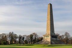 惠灵顿纪念碑在凤凰公园 图库摄影