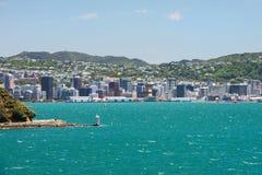 惠灵顿都市风景,新西兰 免版税库存照片