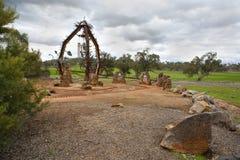 惠灵顿NSW纪念碑 免版税库存照片