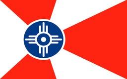 惠科塔旗子在堪萨斯,美国 免版税库存照片