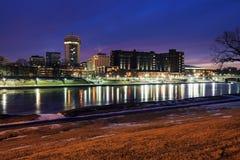 惠科塔,街市的堪萨斯- 免版税库存照片