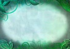 幻想与叶子和藤的样式背景 免版税图库摄影