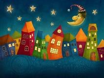 幻想五颜六色的房子 免版税库存照片