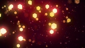 幻想六角形4 Loopable背景 向量例证