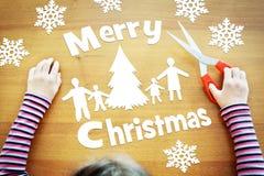 幻想关于圣诞节假日的小女孩 库存图片
