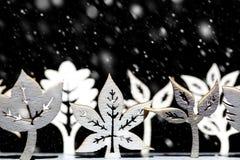 幻想冬天雪场面 免版税图库摄影