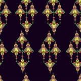 幻想动画片计算机国际庞克昆虫无缝的样式 图库摄影