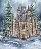 幻想城堡在森林 库存照片