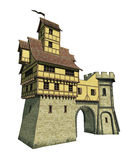 幻想城堡门 向量例证