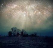 幻想太空星群的Starburst 图库摄影