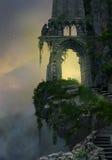幻想废墟 向量例证