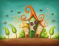 幻想房子 向量例证