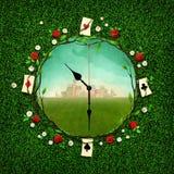 幻想时钟 向量例证