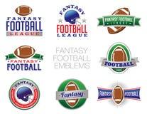 幻想橄榄球象征例证 库存照片