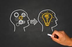 想法、配合和企业概念 库存图片